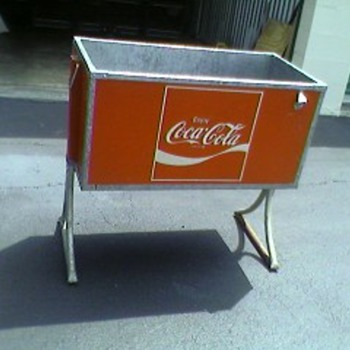 """Enjoy Coca Cola"" cooler"