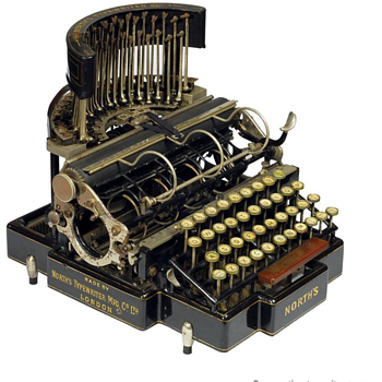 Norths typewriter - 1892