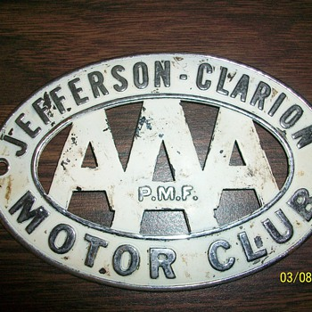 AAA Motor Club Car Badge - Classic Cars