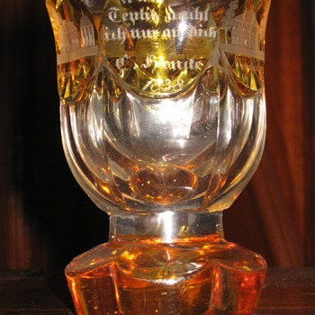 Fantastic German crystal cup