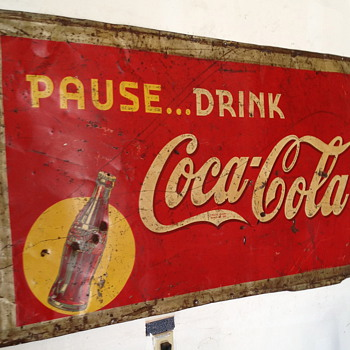 Coca Cola Sign from 1939