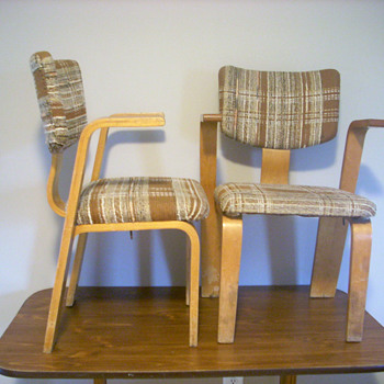 Thonet dining chairs 1950-60? Value unknown - Furniture
