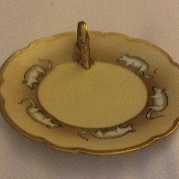 Rat Limoges candle plate