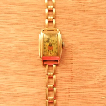 French marketed Kelton Mickey Mouse Wristwatches