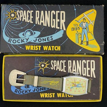 1954 Rocky Jones Space Ranger Watch in Original Box by Ingraham - Wristwatches