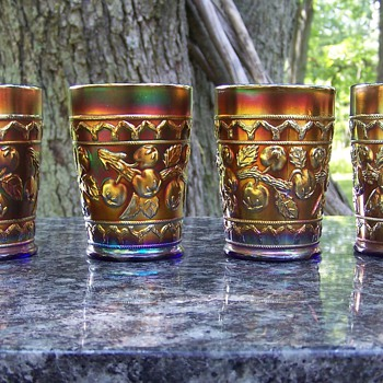 The Tumblers to Complete my Fenton Apple Tree Water Set! - Glassware