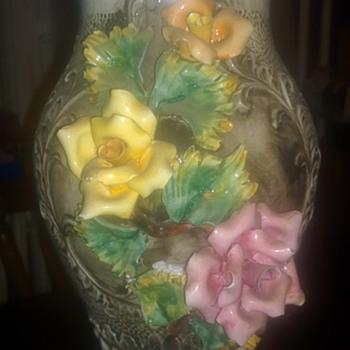 Capo Di Monte Style Vase - Art Pottery