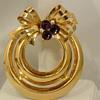 Vtg RARE CORO Adolph Katz 1948 Rhinestone 2 Circle Bow Pendant Necklace Book Pc