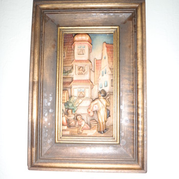 wood carve 3d picture and original frame .