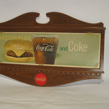 1960's Coca Cola resturaunt sign - Advertising