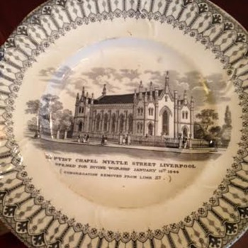 Baptist Chapel in Liverpool Plate