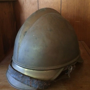 Vintage Brass German Firefighter Helmet - Firefighting