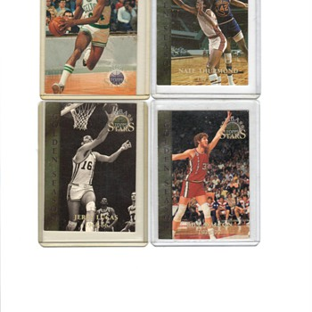 BILL WALTON-JERRY LUCAS-DAVE BING-NATE THURMOND BASHET CARDS - Basketball