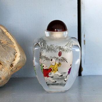 Glass Encased Snuff Bottle - Asian