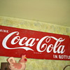 coca-cola sled sign