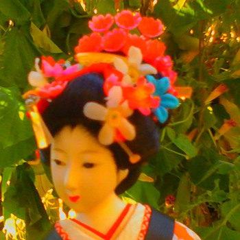 Spring beauty maiko with non-glass, painted on eyes (continued) - Dolls