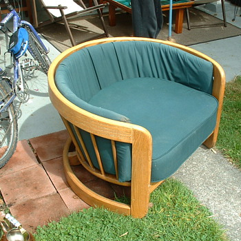 oak tub chair- american