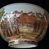 Antique Chinese Large Presentation Bowl 1900's Emperor  reviewing his Soldiers