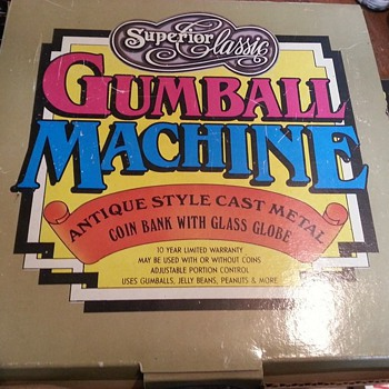 1980's SUPERIOR CLASSIC CAST METAL GUMBALL MACHINE MINT