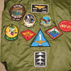 USMC HARRIER JET PILOT JACKET &amp; HELMET BAG/BOOKS