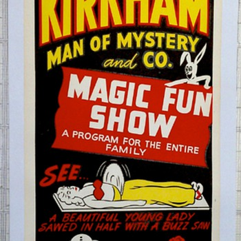Original &quot;Kirkham&quot; Lithograph Poster 