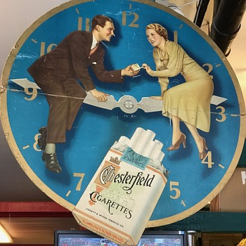 Chesterfield Cigarette Cardboard Sign