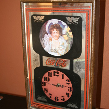 1973 Coca Cola mirrored battery-operated clock - Coca-Cola