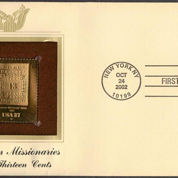 "2002 - ""Hawaiian Missionary"" Stamp First Day Cover"