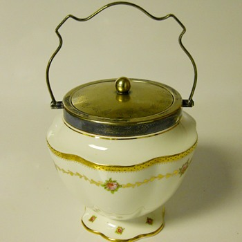 "Post 1 of 5-Biscuit Jar ""George Jones"" Art Nouveau(George Jones and Sons, Crescent China) Pre 1921"