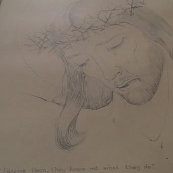 ARTIST   A.E. MUMPER ,  1940- Graphite Drawing/Sketch - Visual Art