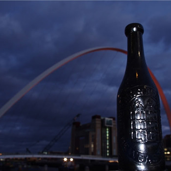 GRAHAM & BRADLEY BLACK TEMPERANCE BOTTLE NEWCASTLE