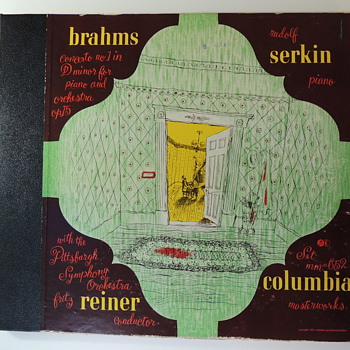 1947 Columbia Records Set mm=652 BRAHMS REINER