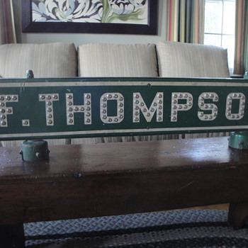 F.  Thompson Double Sided Road Sign