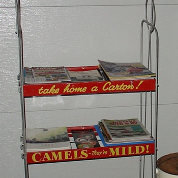 Camels Cigarette Rack - Advertising