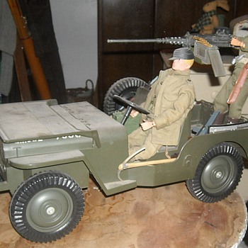 GI Joe 5 Star Jeep with Cotswold resin .50 Machine Gun