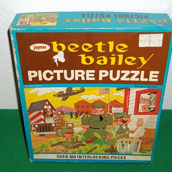 "Jaymar speciality co. Beetle Bailey, ""Potato artist"" Puzzle. - Games"