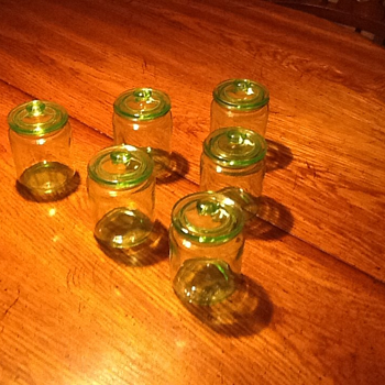 Depression Glass Apothecary Jars