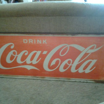 Vintage Coca Cola Tin Sign VERY BIG 5FT X2FT