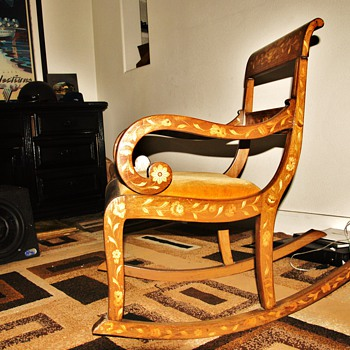 DISALVO AND BROTHER ANTIQUES 1860 CIRCA ROCKEN CHAIR DUTCH
