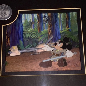 Star Wars Mickey Mouse cel