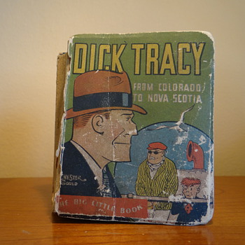 1933  DICK TRACY FROM COLORADO TO NOVA SCOTIA BY CHESTER GOULD  1ST EDITION 