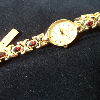 Watch Jules Jurgensen Genuine Garnet Gemstone