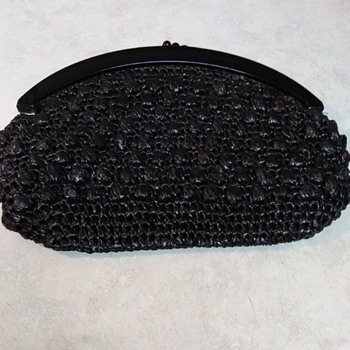 BLACK MACRAME PURSE - Bags