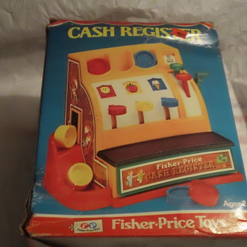 1975 FISH-PRICE TOY CASH REGISTER FACTORY SEAL AND MINT - Toys