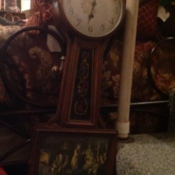Banjo clock tag says Willard no. 3