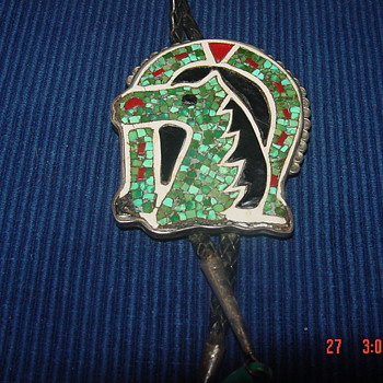My Old Zuni Bolo tie - Native American