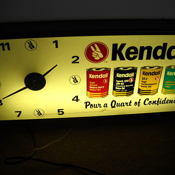 Kendall oil clock - Clocks