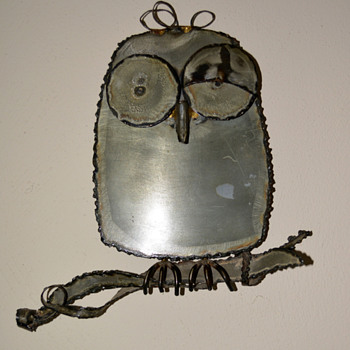 Handmade Steel Owl - Folk Art