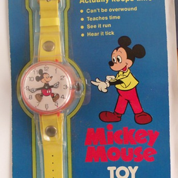 Marx Toy ( Aunt Jemima) Mickey Mouse Watch 1975 - Wristwatches