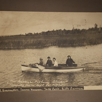 Large Albumen Print [i think] of the Buckeye Fishing Club